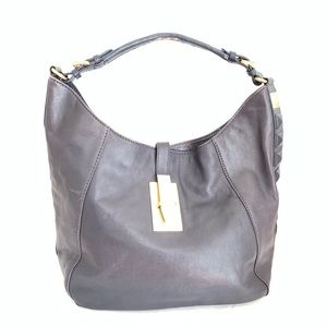 Michael Kors Calista Indigo Leather Shoulder Bag